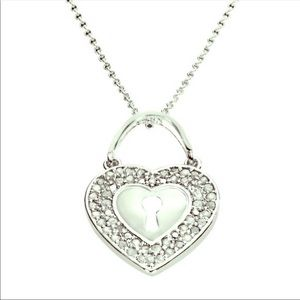 New 1/4 ctw Genuine Diamond Necklace Ster Silver